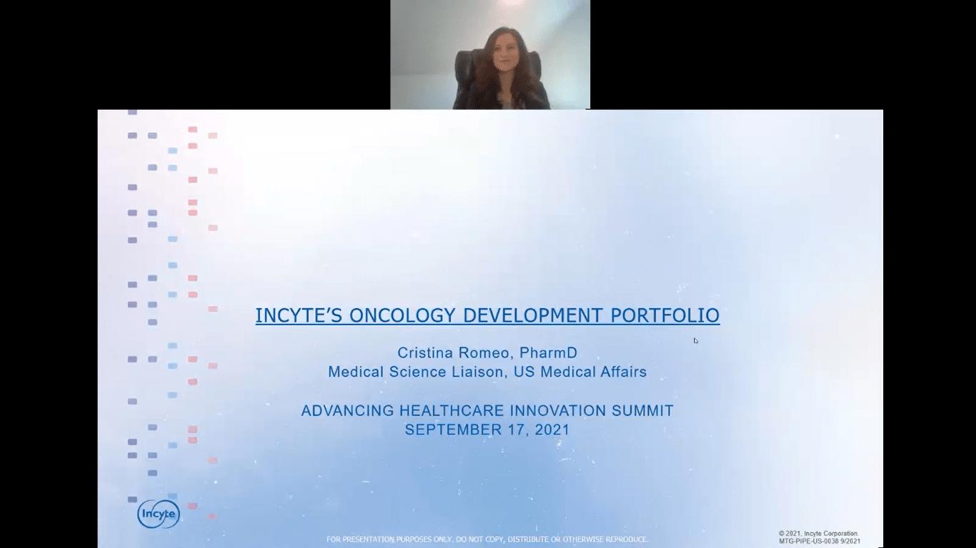 Incyte's Oncology Development Portfolio – presented by Cristina Romeo